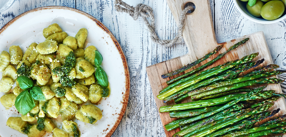 Gnocchetti asparagi e robiola