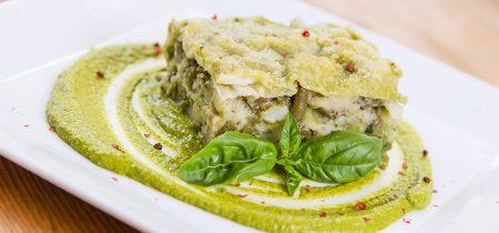 Lasagne con pesto e fagiolini