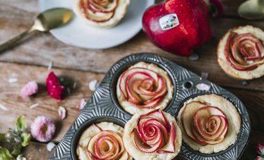 muffin alle rose di mele